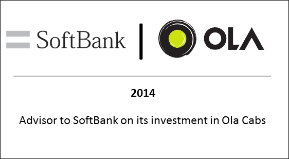 2014 to Softbank on its investment in Ola Cabs