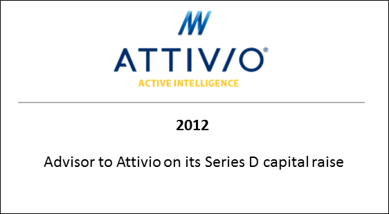 2012 Advisor to Attivio on its Series D capital raise