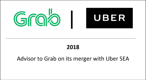 2018 Advisor to Grab on its merger with Uber SEA