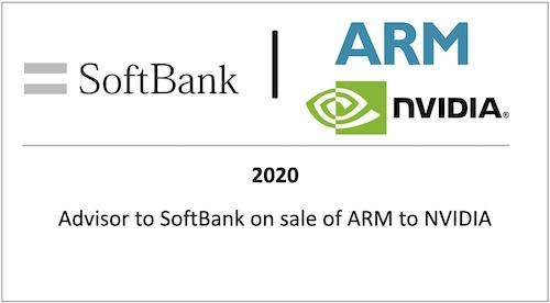 Advisor to Softbank on sale of ARM to NVIDIA
