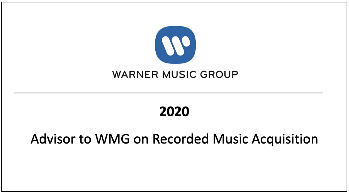 Advisor to WMG on Recorded Music Application