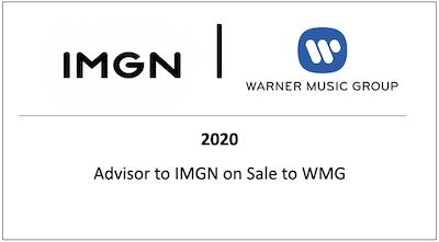 Advisor to IMGN on Sale to WMG