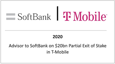Advisor to Softbank on $20bn Partial Exit of Stake in T-Mobile