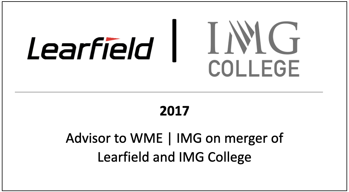 Advisor to WME | IMG on merger of Learfield and IMG College