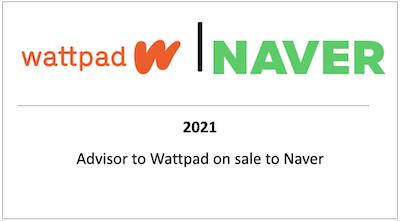 Advisor to Wattpad on sale to Naver