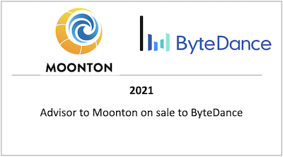 Advisor to Moonton on sale to ByteDance