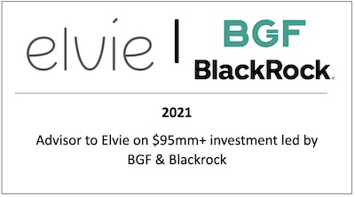 Advisor to Elvie on $95mm+ investment led by BGF & Blackrock