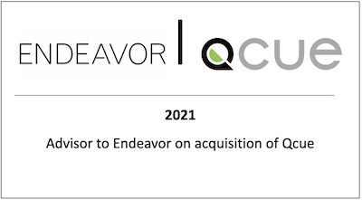 Advisor to Endeavor on acquisition of Qcue